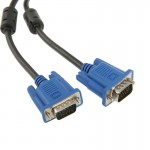 High Quality VGA 15Pin Male to VGA 15Pin Male Cable for LCD Monitor / Projector, Length: 3m