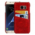 For Samsung Galaxy S7 Edge/ G935 Oil Wax Texture Leather Back Cover Case with Card Slots (Red)