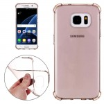 For Samsung Galaxy S7 / G930 Shock-resistant Cushion TPU Protective Case (Black)