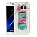 For Samsung Galaxy S7 / G930 Macarons Pattern IMD Workmanship Soft TPU Protective Case
