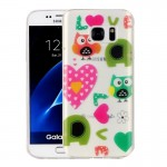 For Samsung Galaxy S7 / G930 Love Owls Pattern IMD Workmanship Soft TPU Protective Case