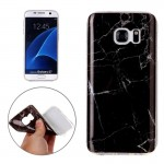 For Samsung Galaxy S7 / G930 Black Marbling Pattern Soft TPU Protective Back Cover Case