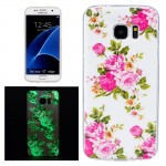 For Samsung Galaxy S7 Edge / G935 Noctilucent Rose Flower Pattern IMD Workmanship Soft TPU Protective Case