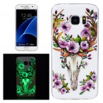 For Samsung Galaxy S7 Edge / G935 Noctilucent Sika Deer Pattern IMD Workmanship Soft TPU Protective Case