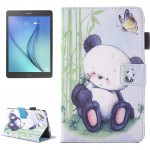 For Samsung Galaxy Tab A 7.0 (2016) / T280 Lovely Cartoon Panda Pattern Horizontal Flip Leather Case with Holder & Card Slots &