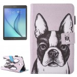 For Samsung Galaxy Tab A 7.0 (2016) / T280 Lovely Cartoon Bulldog Pattern Horizontal Flip Leather Case with Holder & Card Slots