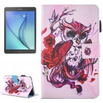 For Samsung Galaxy Tab A 7.0 (2016) / T280 Lovely Cartoon Butterfly Owl Pattern Horizontal Flip Leather Case with Holder & Card