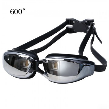 5d2697a78db9b6 Electroplating Anti-fog Silicone Swimming Goggles for Adults, Suitable for  600 Degree Myopia(