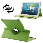 360 Degree Rotatable Litchi Texture Leather Case with Holder for Samsung Galaxy Tab 2 (10.1) / P5100(Green)