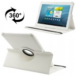 360 Degree Rotatable Litchi Texture Leather Case with Holder for Samsung Galaxy Tab 2 (10.1) / P5100(White)