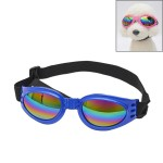 Anti-fog UV400 Dog Foldable Polarized Sunglasses for Dogs with 6Kg Weight or Heavier(Blue)