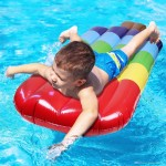 Inflatable Popsicle Shaped Floating Mat Swimming Ring, Inflated Size: 145 x 46cm