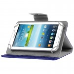 Universal Crazy Horse Texture Horizontal Flip Leather Case with Holder for 7 inch Tablet PC(Dark Blue)