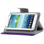 Universal Crazy Horse Texture Horizontal Flip Leather Case with Holder for 7 inch Tablet PC(Purple)