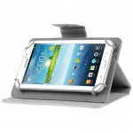 Universal Crazy Horse Texture Horizontal Flip Leather Case with Holder for 7 inch Tablet PC(White)