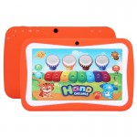 Kids Education Tablet PC, 7.0 inch, 512MB+8GB, Android 5.1 RK3126 Quad Core 1.3GHz, WiFi, TF Card up to 32GB, Dual Camera(Orange