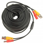 CCTV Safety Camera Power Video Cable, Length: 20m(Black)