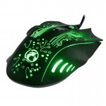 Estone X9 USB 6 Buttons 5000 DPI Wired Multi Color LED Optical Gaming Mouse for Computer PC Laptop(Black)