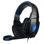 KOTION EACH G4000 Stereo Gaming Headphone Headset Headband with Mic Volume Control LED Light for PC Gamer,Cable Length: About 2.