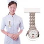 Portable Alloy Nurse Round Quartz Wristwatch Watch with Pin