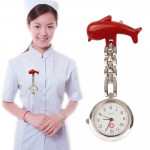Dolphins Style Portable Alloy Nurse Round Quartz Wristwatch Watch with Pin