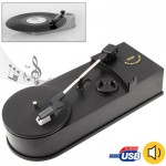 EC008B, USB Mini Phonograph / Turntable / Vinyl Turntables Audio Player, Support Turntable Convert LP Record to CD or MP3 Functi