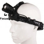 CREE High Power Rotating Dimmer Zoom Headlamp / Headlight(Black)