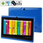 Tablette 7 - 8 pouces 7,0 Tablet PC, 512 Mo + 4 Go, Android 4.2.2, 360 degrés rotation du menu, Allwinner A33 Quad-core, Blue...