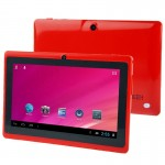 Tablet PC, 7.0 inch, 512MB+8GB, Android 4.0, Allwinner A33 Quad Core 1.5GHz(Red)