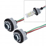 2 PCS 1157 Car Auto LED Bulb Socket Holder (No Including Light)