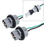 2 PCS 7440 Car Auto LED Bulb Socket Holder (No Including Light)