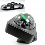 Adjustable Angle Plastic Car Compass with Adhesive Mount(Black)