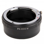 Pentax PK Lens to Canon EOS Lens Mount Stepping Ring(Black)