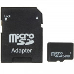64GB High Speed Class 10 Micro SD(TF) Memory Card from Taiwan, Write: 11mb/s, Read: 15mb/s (100% Real Capacity)(Black)