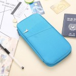 Multi-function Passport Travel Wallet Certificates Ticket Case with Card Slots & Wallet (Blue)