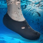 Comfortable and anti-slip 3MM swimming diving socks breathable water to swim the beach socks Size:L (38-39)(Black)