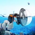 Shutter Trigger + Dome Port Lens Transparent Cover + Floating Hand Grip Diving Buoyancy Stick with Adjustable Anti-lost Strap &