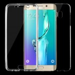 Coque Transparent pour Samsung Galaxy S6 Edge + / G928 0.75mm Double-face Ultra-mince TPU Housse de protection - Wewoo