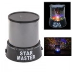 Veilleuse noir Lampe de Projecteur Sky Night Master Light - Wewoo