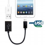 Micro USB OTG Connection Cable for Samsung Galaxy Tab 3 (8.0 / 10.1) T310 / P5200, Note 10.1(2014 Edition)/P600, GALAXY Tab 4 (7