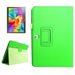 Lichee Texture Horizontal Flip Leather Case with Holder for Samsung Galaxy Tab S 10.5 / T800(Green)