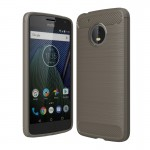 For Motorola Moto G(5th Gen.) Brushed Carbon Fiber Texture Shockproof TPU Protective Cover Case(Grey)