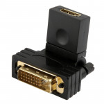 360 Degree Rotation Gold Plated DVI 24+1 Pin Male to 19 Pin HDMI Female Adapter