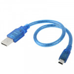 USB 2.0 AM to Mini USB Male Adapter Cable , Length: 30cm (Blue)