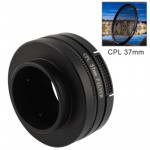 37mm CPL Filter Circular Polarizer Lens Filter with Cap for GoPro Hero 4 / 3+ / 3