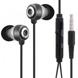Stereo Hands-free Earphone with Mic, Length: 1.2m, For iPhone, iPad, iPod, Samsung, HTC, Sony, Huawei, Xiaomi and other Audio Devices(Black)