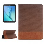 Cross Texture Leather Case with Holder & Card slots & Wallet for Samsung Galaxy Tab A 9.7 4G LTE / T555(Coffee)