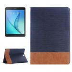 Cross Texture Leather Case with Holder & Card slots & Wallet for Samsung Galaxy Tab A 9.7 4G LTE / T555(Dark Blue)