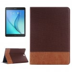 Cross Texture Leather Case with Holder & Card slots & Wallet for Samsung Galaxy Tab A 9.7 4G LTE / T555(Brown)