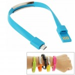 Wearable Bracelet Sync Data Charging Cable for Samsung Galaxy S6 / S5 / S IV, LG, HTC, Length: 24cm(Blue)